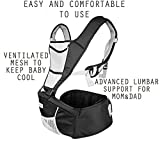 NimNik Baby Sling Carriers Hipseat - Ergonomics Front 2 Back Carrier, Black Bild 2