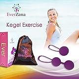 Everzana Kegel Ball Exercise Kit For Women - Ben Wa Balls for Bladder Control and Pelvic Floor Exercise