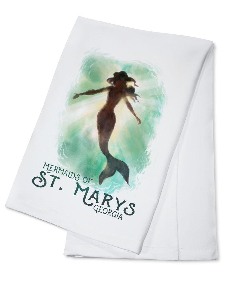 聖Marys、ジョージア – 人魚の聖Marys – Mermaid Underwater Cotton Towel LANT-83815-TL B0784Z572R  Cotton Towel