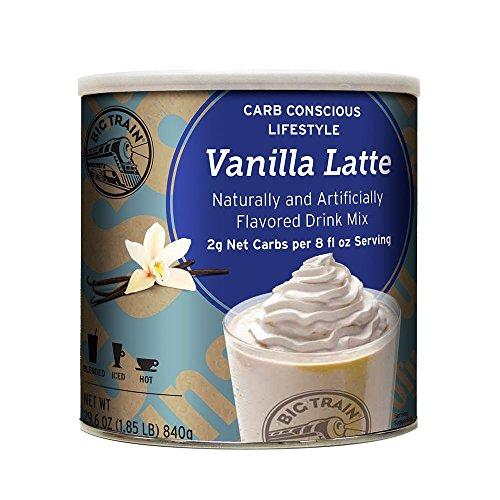 Big Train Low Carb Blended Ice Vanilla Latte Mix, 1.85 lb (Big Train Low Carb)