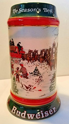 Budweiser Holiday Steins Collectable Holiday Stein Series ()