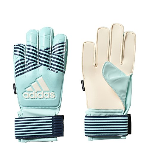 adidas Performance ACE Fingersave Junior Goalie Gloves, Energy Aqua/Energy Blue, Size 6
