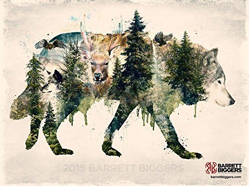 Animal Forest Inspired Fine Art Painting Giclèe Print ()