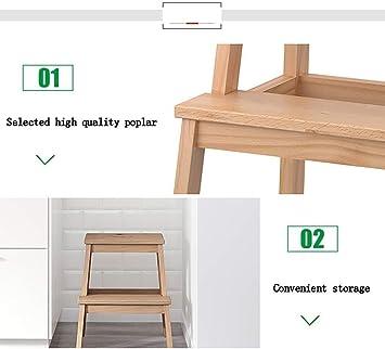 Taburete de 2 gradas de escalera de múltiples funciones de heces, Utilidad Dos, cama for niños Escaleras antideslizante Reposapiés, Banco de calzado portátil for la seguridad del armario de cocina Bañ: Amazon.es: