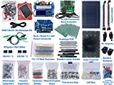 Electronic Components & Tools Assortment DIY DSO138 Mini USB Oscilloscope, Buck Boost Converter, Solar Panel, Thermostat, Cables, Capacitors, Resistors, Transistors, LED, Diodes, Potentiometer, PCB