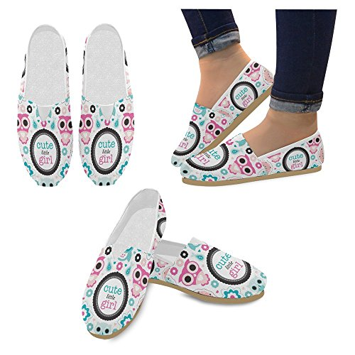 InterestPrint Womens Slip On Canvas Shoes Loafers Girls Classic Casual Sneakers Flats
