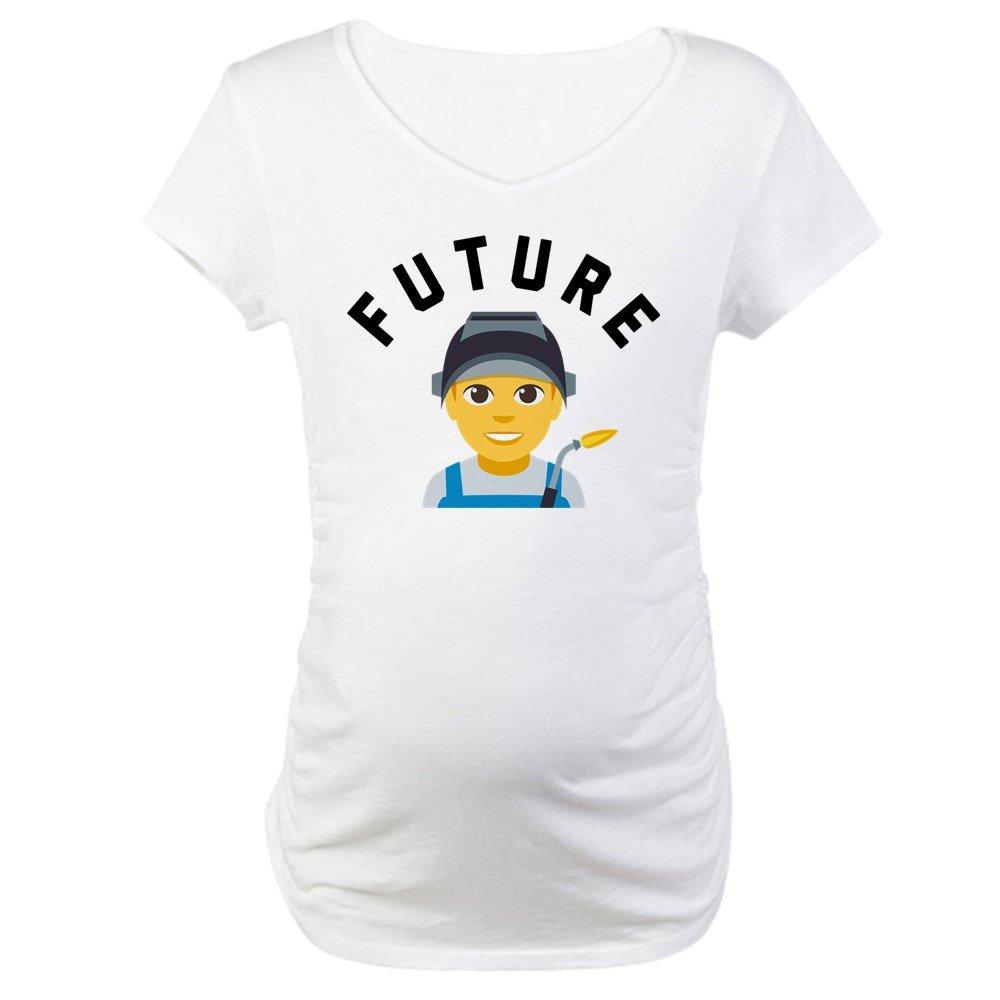 ebabda415 CafePress Emoji Future Welder Maternity Tee at Amazon Women's Clothing  store: