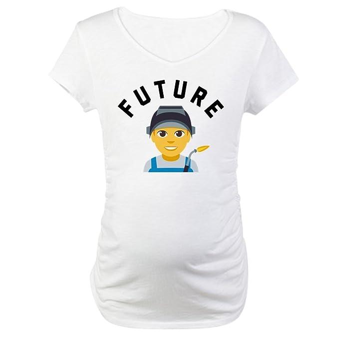 f590c3a3e3c CafePress Emoji Future Welder Maternity T Shirt Cotton Maternity T-Shirt