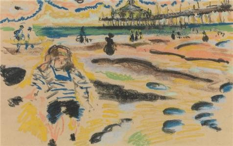 Oil Painting 'Jules Schmalzigaug - Pier In Schevingen, 20th Century' Printing On Perfect Effect Canvas , 24x38 Inch / 61x97 Cm ,the Best Hallway Decoration And Home Gallery Art And Gifts Is This Replica Art DecorativeCanvas Prints (One Windsor Pier)