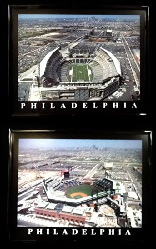 (Framed Philadelphia Phillies and Eagles Lincoln Financial Field Wall Art Set)