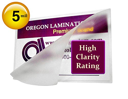 Hot Laminating Pouches 5 Mil (Pk of 100) 4-1/4 x 6-1/4-Inch 4x6 Photo Size Laminator Sleeves by Oregon Lamination Premium