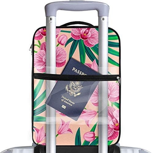 MYSTAGE シューズバッグ 靴箱 シューズケース シューズ袋 旅行収納ポーチ 二層式 靴入れ 小物収納 収納ケース アウドドア 出張 旅行 ヤシの葉 蘭の花