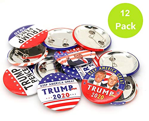 Trump Buttons- Keep America Great Trump 2020 Presidential Election Campaign Buttons-Donald Trump Election Button Pack of -