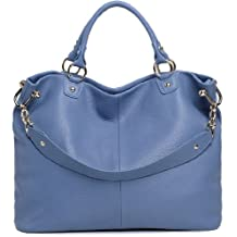 Heshe Women's Shoulder Handbag Top-handle Bag Cross Body Purse Satchel (Ultramarine)