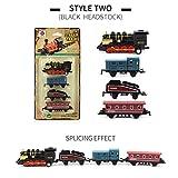 quad track tractor - DORIC Mini Pull Back Train Classical Alloy Retro Steam Simulated Joint Train Model Kids Toys
