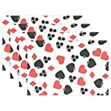 WARMFM Ethel Ernest Funny Poker Cards Hearts Heat-resistant Placemats, Polyester Tablemat Place Mat for Kitchen Dining Room Set of 6