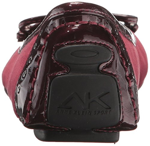 Anne Buttons Klein Frauen Ballerinas Dark Fabric Wine Flach 8f8rSw