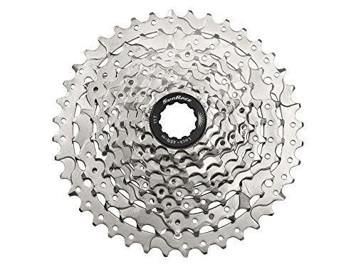JGbike Sunrace 9 Speed Cassette 11-40T, CSM990 Wide Ratio MTB Cassette for Mountain Bike Including Extender for SRAM/Shimano mid or Long cage derailleur - Silver