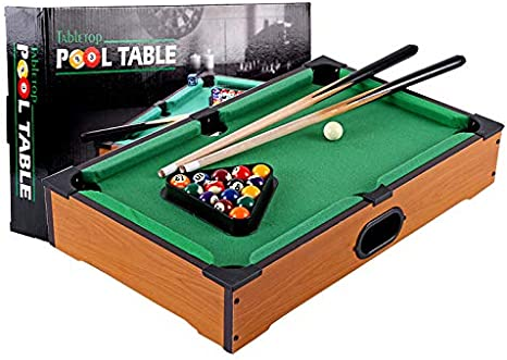 Zgifts Mini Mesa Pool set-15 Bolas de Billar portátil Juego Billar ...