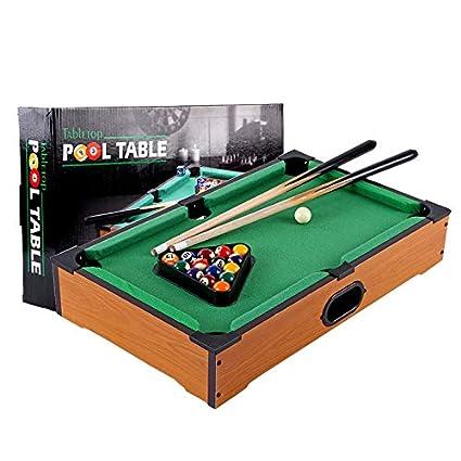 Zgifts Mini Mesa Pool set-15 Bolas de Billar portátil Juego Billar ...