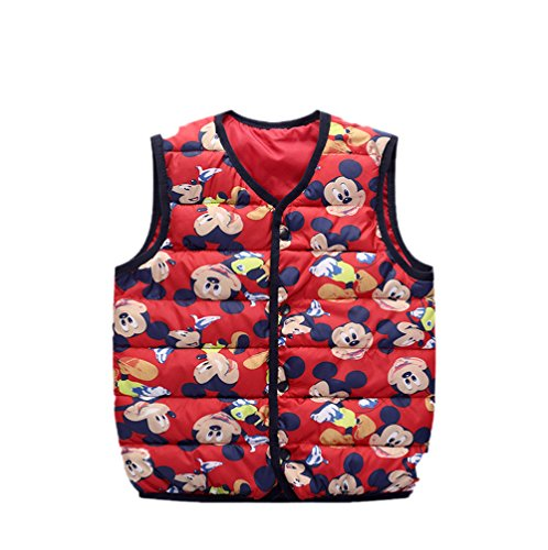 Cartoon Jacket Lightweight mickey Lemonkids;® Vest Kids Children red Wadded Warm Outfits 0CAESq