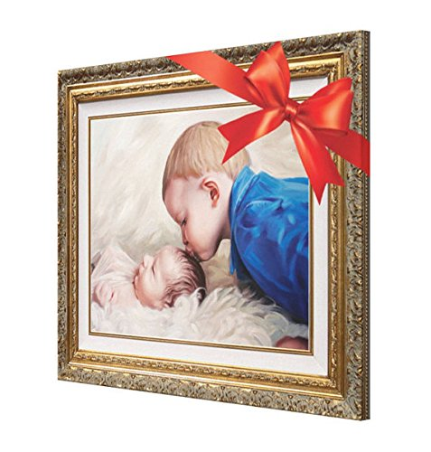 Christmas Gift - Custom Kids Portraits From Photo - Personalized Fine Art