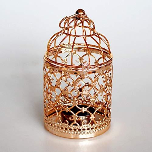 Candle Stand Holder - Hollow Holder Candlestick Tealight Hanging Lantern Bird Cage Vintage Wrought - Wooden Votive Vase Ocean Mirror Angel Hurricane Geometric Romantic Octopus Bulk Iron Brass ()