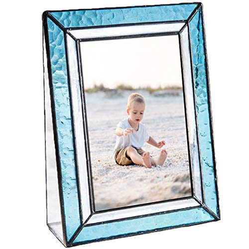 Blue Picture Frames 4x6 Vertical Photo Table Top Beach Coastal Cottage Turquoise Home Décor J Devlin Pic 401-46V