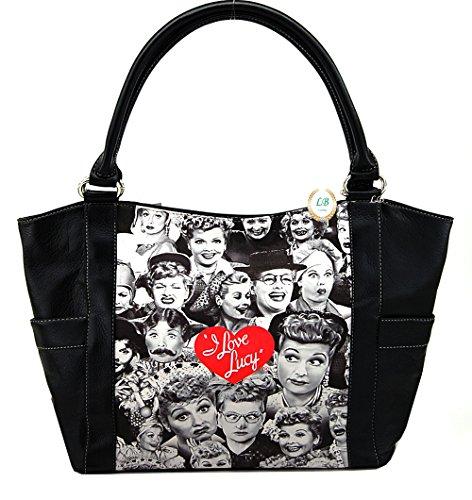 - I Love Lucy Collage Large Handbag, Plus Keychain, LU7104