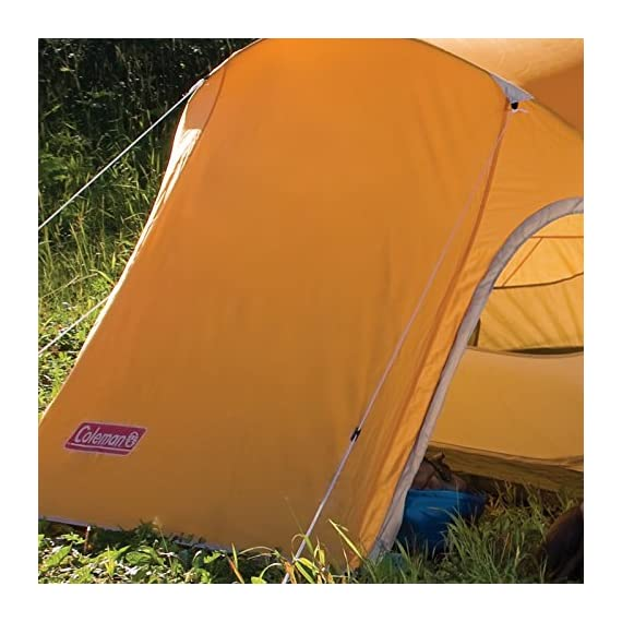 Coleman Hooligan Backpacking Tent 6 Sleeps 2 Main fly seams are factory taped Heavy duty 1000D polyethylene bathtub floor for extra durability and welded leak proof seams