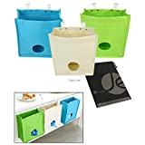 JAVOedge (3 PACK) Sturdy Kitchen Storage Bag Organizer with Builtin Over Cabinet Door Hooks for Garbage Bag and Supplies