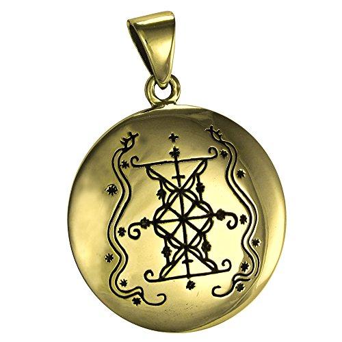 Bronze Papa Damballah Voodoo Loa Veve Pendant - Lwa of - Import It All