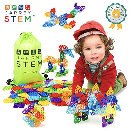 (Jarrby STEM Flakes Educational Building Toys - A Great STEM / STEAM Therapy Toy for Boys and Girls - Best Toys for 2 3 4 5 6 7 8 +)