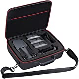 Hard Shell Carrying Case Storage for DJI Mavic Pro - Holds 3PCS Batteries and Includes Mesh Pocket for Accessories. By Comecase