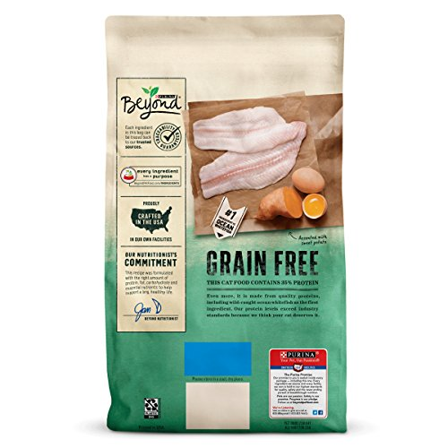 Large Product Image of Purina Beyond Grain Free Ocean Whitefish & Egg Recipe Adult Dry Cat Food - 11 lb. Bag
