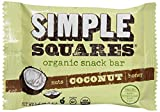 Simple Squares Organic Snack Bar, Coconut, 1.6 Ounce (Pack of 12) For Sale