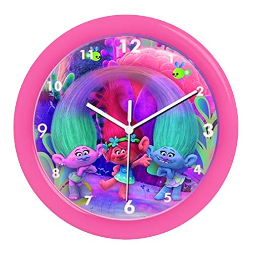 Childrens Wall Clock, Trolls Poppy Wall Clock, Officially Licensed,Brand (Wall Licensed Officially Clock)