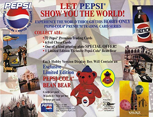 PEPSI AROUND THE WORLD 2000 DART PROMO PROMOTIONAL SALE SELL SHEET