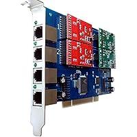 4 Port Analog Card with 2 FXS + 2 FXO Ports For FreePbx,Elastix,Trixbox,Asterisk Card PCI FXO FXS Voice card