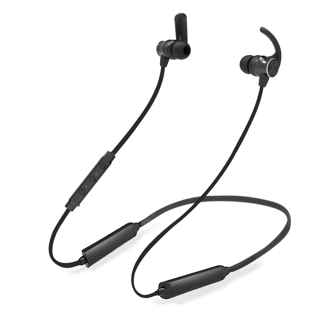 Avantree Bluetooth Neckband Headphones Earbuds for TV PC, No Delay, 17 Hrs Playtime Wireless Earphones with Mic, Magnetic, Light & Comfortable, Compatible with iPhone Cell Phones, Workout Gym - NB26 by Avantree