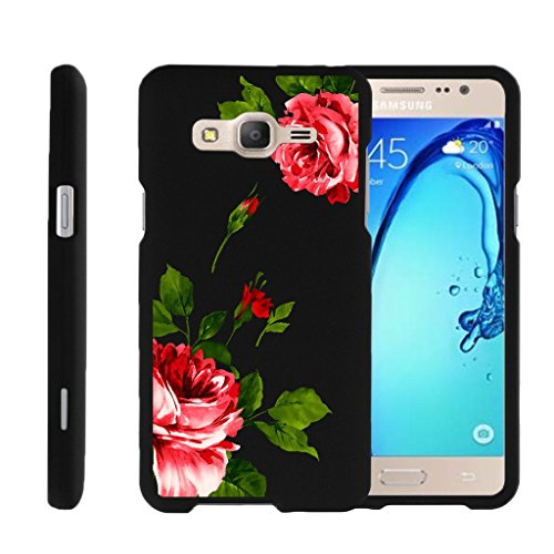 MINITURTLE Case Compatible w/ Miniturtle [ Galaxy O5 Case, Samsung On5 Hard Case, Galaxy O5 Slim Cover] [Snap Shell] 2 Piece Hard Plastic Case Affectionate Flowers