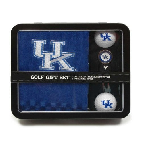 NCAA Kentucky Wildcats Embroidered Golf Towel, 2 Golf Balls, And Divot Tool Set (Embroidered Tri Fold Wildcats)