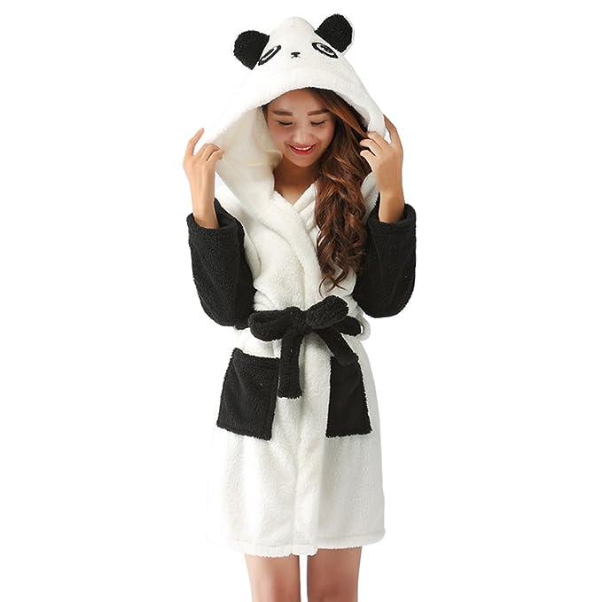 Bata de Panda con Capucha Bata de Casa Bata de Baño Albornoz para Mujer Hombre Niños: Amazon.es: Ropa y accesorios