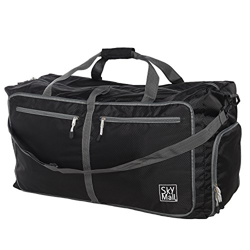 Foldable Sports Gym Bag Travel Duffle Bag Lightweight Weekend Bag for Men, Women, Girls, Boys, Water Resistant - Skymall Stores