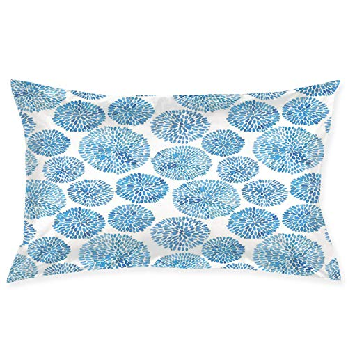 YABABY Pillow Sham,Ethnic Japanese Flower Circle Petal Pattern Spring Inspired Hand Drawn Eastern,Decorative Standard Queen Size Printed Pillowcase 30 X 20 Inches,Pillow Cushion Cover