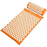 ProsourceFit Acupressure Mat and Pillow Set - Orange