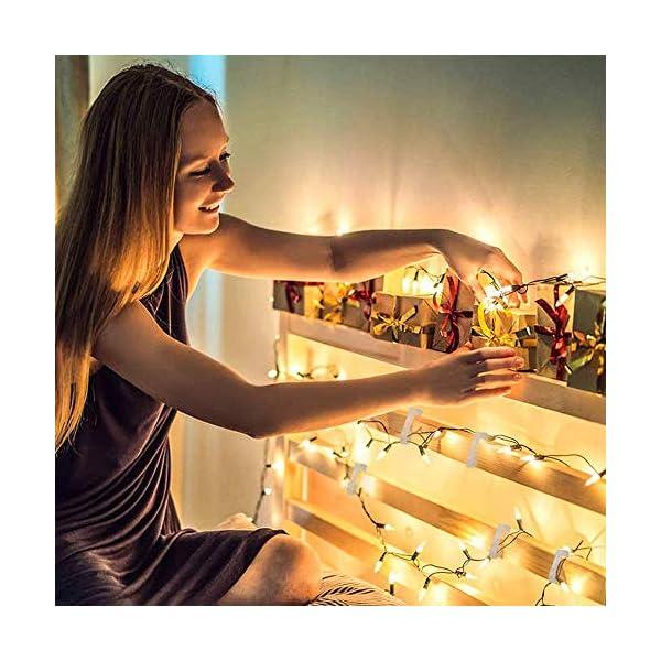 100 pezzi Ganci per Esterni,Luci Esterne Appese,Ganci in Plastica per Appendere,Natale Clip di Luce Grondaie Ganci Appesi,Clip di Luce Natalizia per Grondaie 7 spesavip