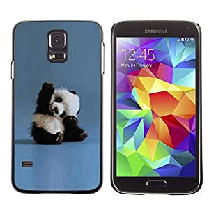 Design for Girls Plastic Cover Case FOR Samsung Galaxy S5 Tiny Baby Panda Quote Blue China Animal OBBA