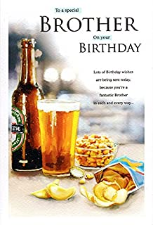 Brother birthday card beer bottle pint glass presents garden 9 to a special brother birthday card bottle beer m4hsunfo