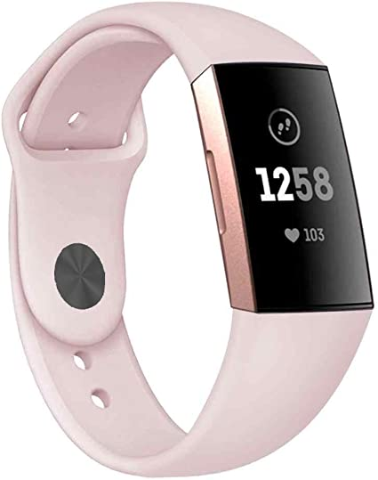 Sports Silicone Replacement Women Men Bands Compatible Fitbit Charge 3 Bands
